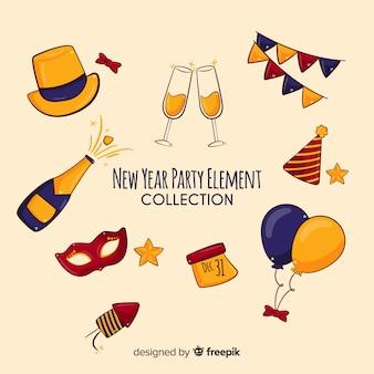 Set de artículos de fiesta de año nuevo 2019