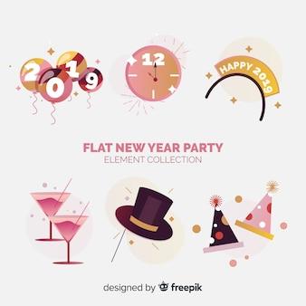 Set de artículos de fiesta de año nuevo