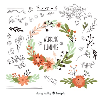 Set artículos naturales de boda