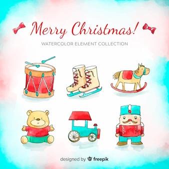 Set de artículos navideños