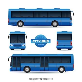 Set de autobús con diferentes perspectivas