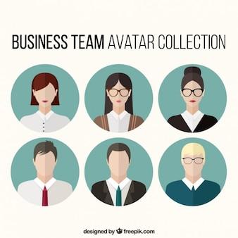 Set de avatares de equipo de negocios