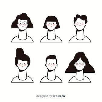 Set de avatares de personas