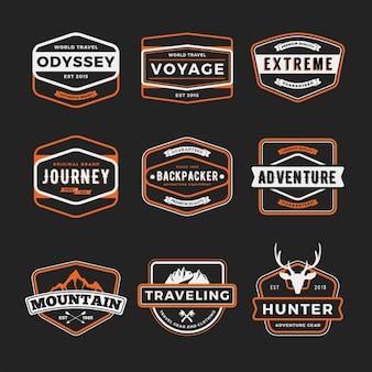 Set de badges de aventuras