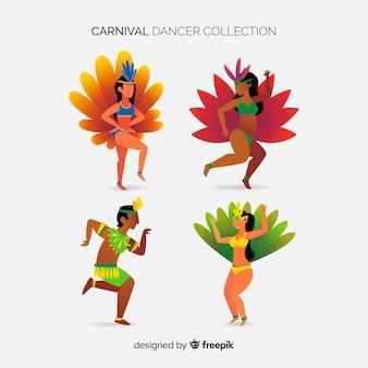 Set de bailarinas de carnaval de brasil