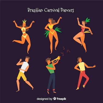Set bailarinas carnaval brasileño