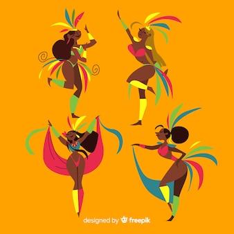 Set de bailarinas de carnaval brasileño