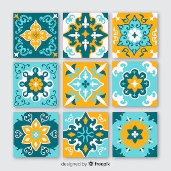 Set de baldosas de cerámica