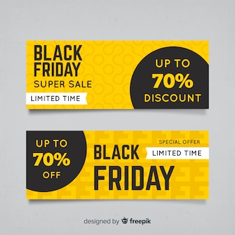 Set de banners abstractos de rebajas de black friday