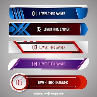 Set de banners abstractos para televisión