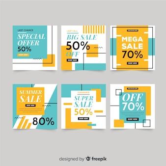 Set de banners cuadrados de promoción