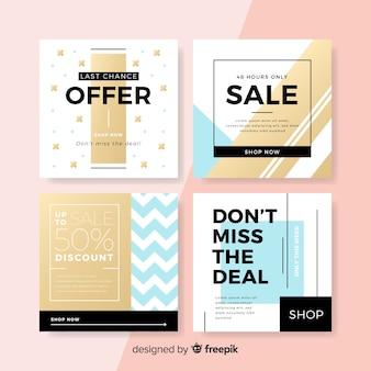 Set de banners cuadrados de promociones