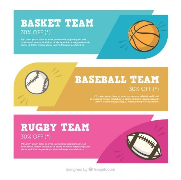 Set de banners de deporte