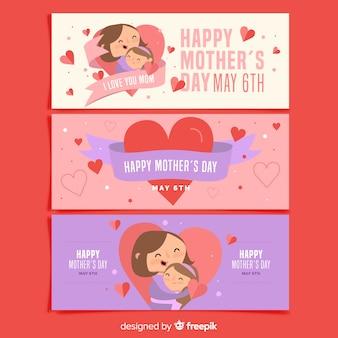 Set de banners del día de la madre