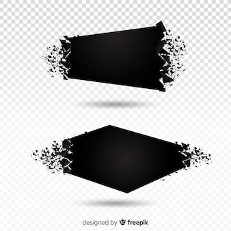 Set de banners de explosión oscura