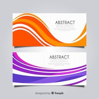 Set banners formas onduladas abstractas