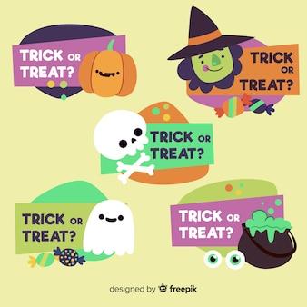 Set de banners de halloween