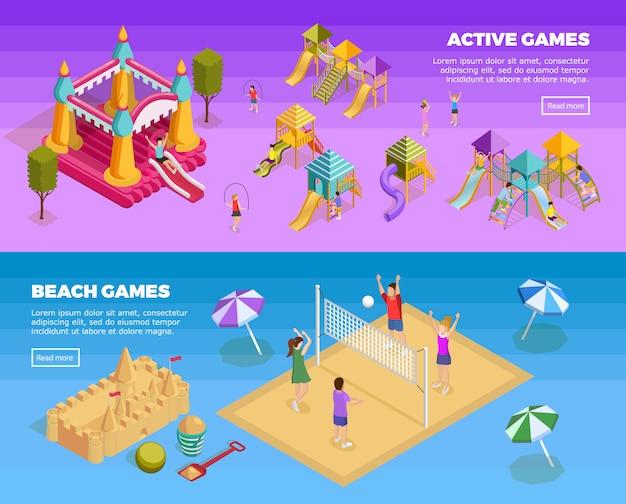 Set de banners de juegos