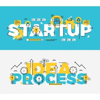 Set de banners de negocios