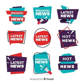 Set de banners de noticias recientes