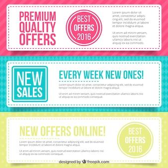 Set de banners de ofertas de calidad suprema