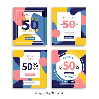 Set de banners online de compras