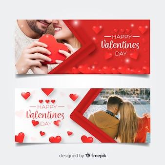 Set de banners online de san valentín