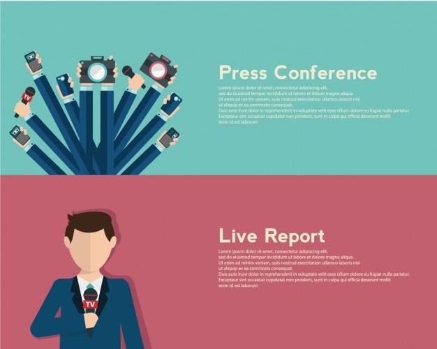 Set de banners de periodismo