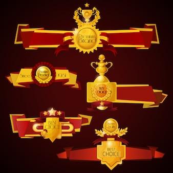 Set de banners de premio