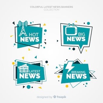Set de banners de últimas noticias