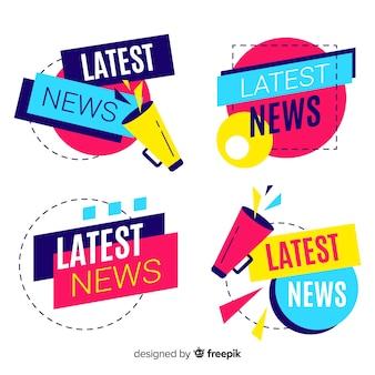 Set de banners de últimas noticias