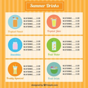 Set de bebidas de frutas