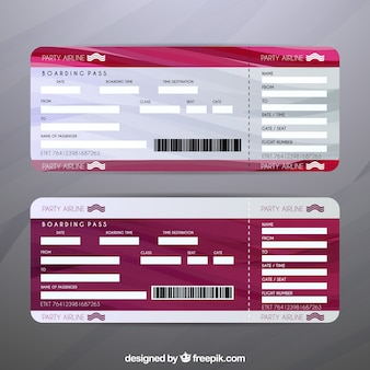 Set de billetes de avión