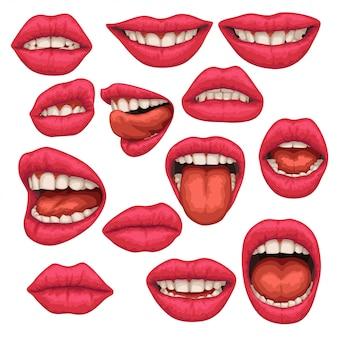 Set boca mujer