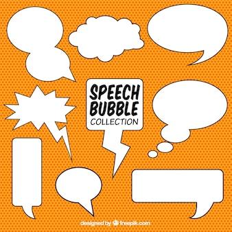 Set de bocadillos de diálogos dibujados a mano para comic