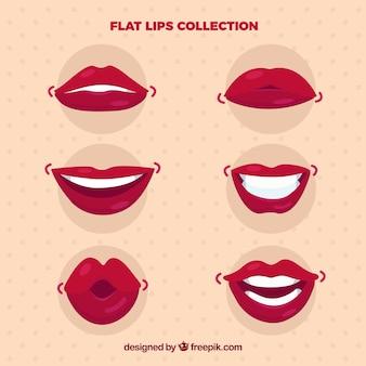 Set de bocas con diferentes gestos