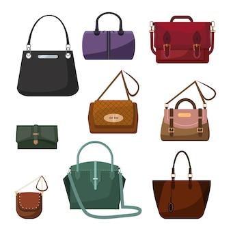 Set de bolsos para mujer.