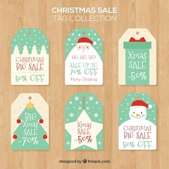 Set de bonitas pegatinas navideñas de rebajas