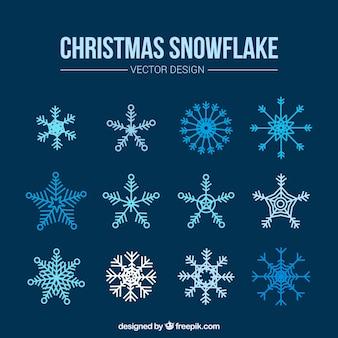 Set de bonitos copos de nieve decorativos