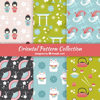 Set de bonitos patrones japoneses
