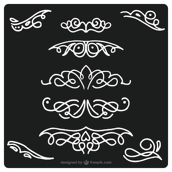 Set de bordes ornamentales  dibujados a mano