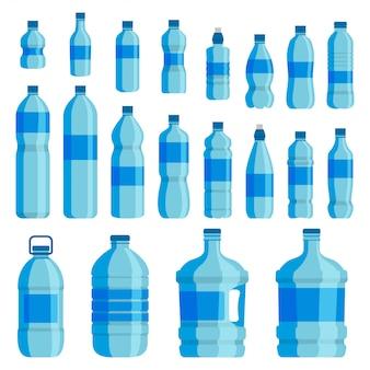 Set de botellas de plástico