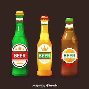 Set de botellines de cerveza