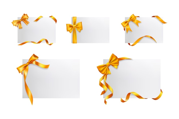 Set de cajas de regalo realistas.