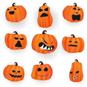 Set calabazas de halloween collection scary y divertido