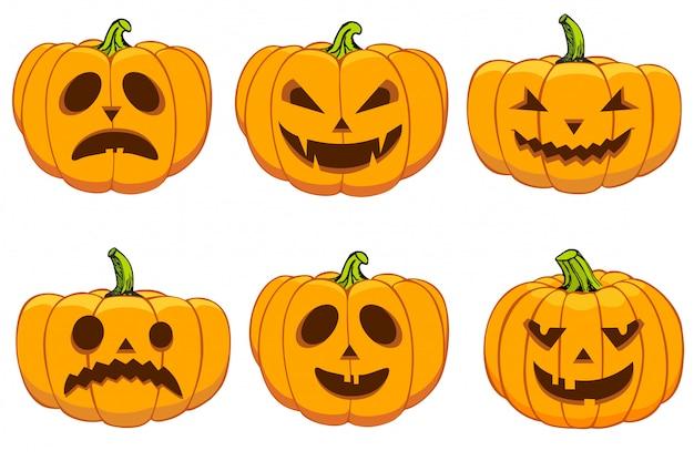 Set de calabazas para halloween