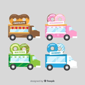 Set de camiones de comida