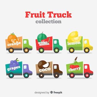 Set de camiones de fruta