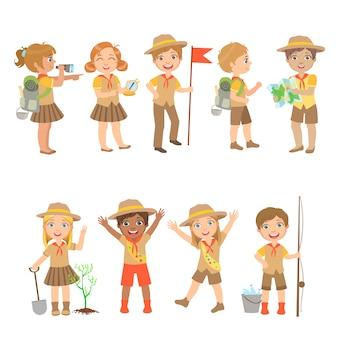 Set de campamento para niños scouts