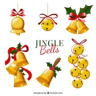 Set de campanas de navidad